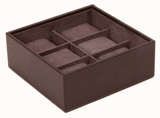 WOLF Stackable Watch Tray Brown 6Pc Standard 309706