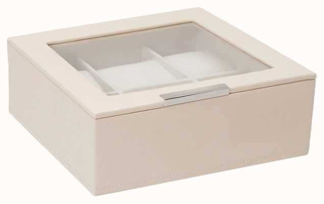 WOLF Stackable Watch Tray Cream 6Pc With Lid 309653