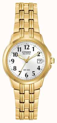 Citizen Ladies Silhouette Sport Eco-Drive Gold IP Watch EW1542-59A