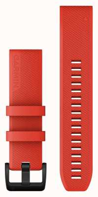 Garmin Quickfit 22 Strap Only Laser Red With Black Stainless Steel 010-12901-02
