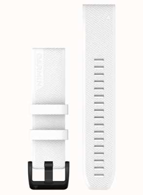 Garmin QuickFit 22 Strap Only  White With Black Stainless Steel 010-12901-01