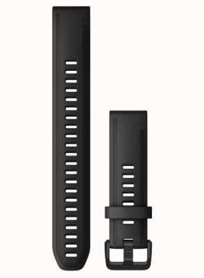 Garmin QuickFit 20 Strap Only Large Black Rubber 010-12942-00
