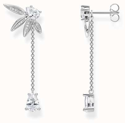 Thomas Sabo Glam And Soul | Leaf Stud Drop Earrings H2105-051-14