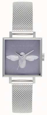 Olivia Burton 3D Bee | Women's Silver Mesh Bracelet | Silver Bee Dial OB16AM136