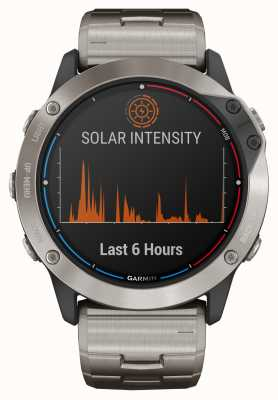 Garmin Quatix 6X Solar Power Glass Titanium Bracelet 010-02157-31