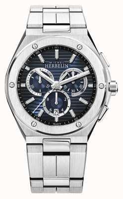 Michel Herbelin | Men's Cap Camarat | Stainless Steel Bracelet | Blue Dial 37645/B15