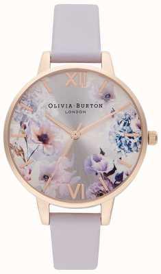 Olivia Burton Sunlight Florals | Women's Lilac Leather Strap | Floral Dial OB16EG140