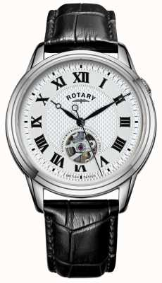 Rotary Cambridge Automatic | Black Leather Strap | Silver Dial GS05365/70