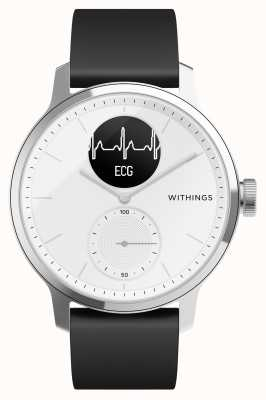 Withings Scanwatch 38mm White - Hybrid Smartwatch with ECG HWA09-MODEL 1-ALL-INT
