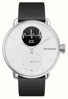 Withings Scanwatch 42mm White - Hybrid Smartwatch with ECG HWA09-MODEL 3-ALL-INT