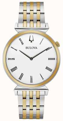 Bulova Mens | Regatta | Two Tone Stainless Steel Bracelet | 98A233