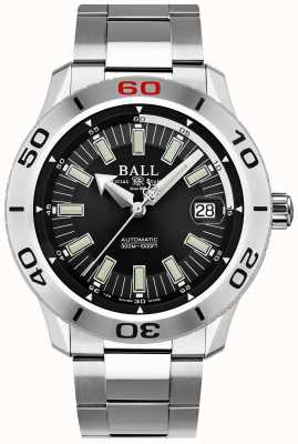 Ball Watch Company Fireman Black NECC | Stainless Steel Bracelet | Black Dial DM3090A-S3J-BK