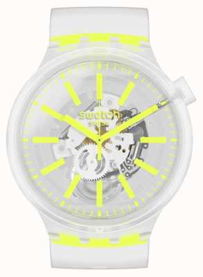 Swatch YELLOWINJELLY | Big Bold | Clear Strap Watch SO27E103