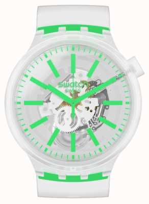Swatch GREENINJELLY | Big Bold | Clear strap SO27E104
