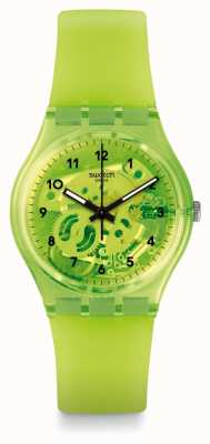Swatch LEMON FLAVOUR | Green Silicone Strap | Green Dial GG227