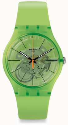 Swatch KIWI VIBES | Green Rubber Strap | Green Dial SUOG118