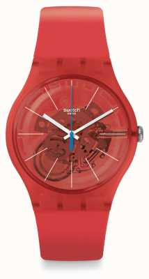 Swatch | New Gent | Bloody Orange Watch | SUOO105