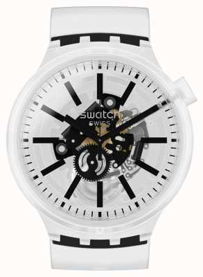 Swatch BLACKINJELLY | Big Bold | Clear Strap SO27E101