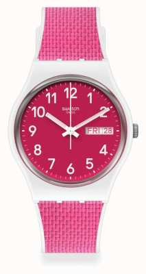 Swatch BERRY LIGHT | Pink Rubber Strap | Pink Dial GW713