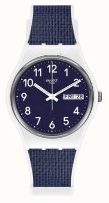 Swatch NAVY LIGHT | White/Blue Bimaterial Strap | Blue Dial GW715