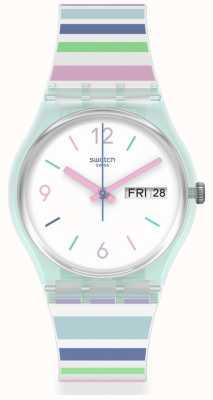 Swatch PASTEL ZEBRA | Silicone Strap | Quartz GL702