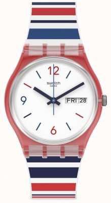 Swatch SEA BARCODE | Day & Date Watch GR712