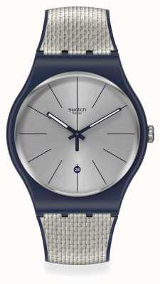 Swatch GREY CORD | Silicone Strap | Quartz SUON402