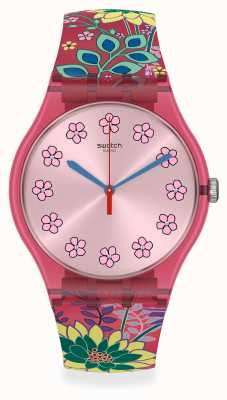 Swatch | Dhabiscus | New Gent | Floral Silicone Strap SUOP112