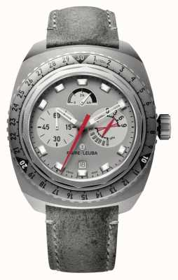 Favre Leuba Raider Bivouac 9000 | Grey Antelope Leather Strap 00.10105.06.45.45