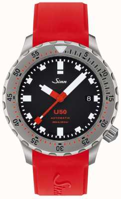 Sinn U50 | Red Silicone Divers Watch 1050.010 RED STRAP