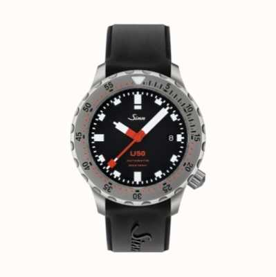 Sinn U50 | Black Silicone Divers Watch 1050.010 BLACK RUBBER