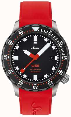 Sinn U50 SDR | Red Rubber Strap | Black Dial 1050.040