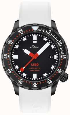 Sinn U50 SDR | White Silicone Strap | Black Dial 1050.020