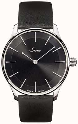 Sinn 1739 St I S | Black Leather Strap | Black Dial 1739.012