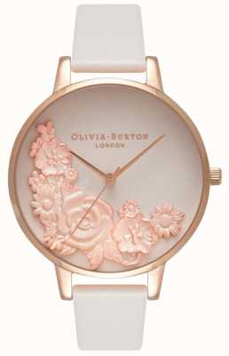 Olivia Burton Pink Dials | Blush Leather Strap | Floral Dial OB16FS85
