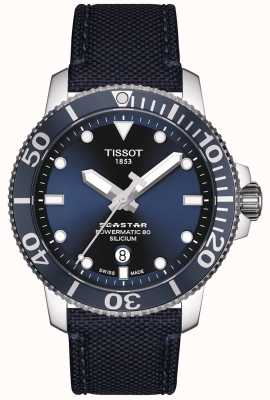 Tissot Seastar 1000 Powermatic | Blue Fabric Strap | Blue Dial T1204071704101