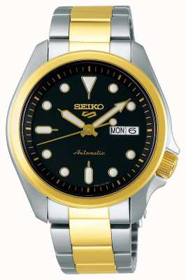 Seiko Men's 5 Sports Automatic Watch | Two Tone SRPE60K1
