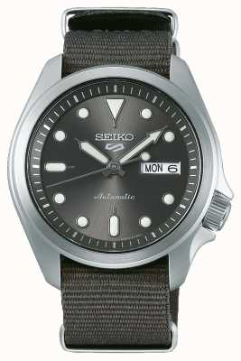 Seiko Men's 5 Sports Automatic Watch | Grey NATO SRPE61K1