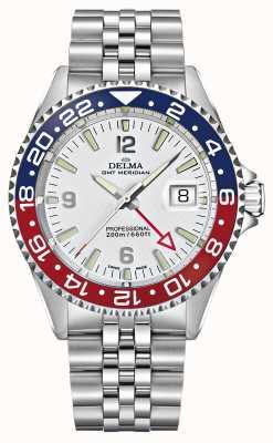 Delma Quartz GMT   Two-Tone Bezel   Stainless Steel Bracelet   41701.648.6.P014