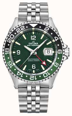 Delma Quartz GMT | Two-Tone Bezel | Stainless Steel Bracelet 41701.648.6.144