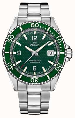 Delma Santiago Automatic | Stainless Steel Bracelet | Green Dial 41701.560.6.144