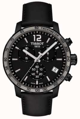 Tissot Quickster Chronograph Quartz Black Leather Black Dial T0954173605702