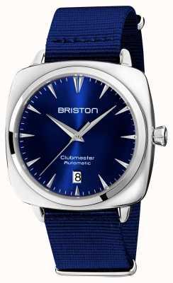 Briston Clubmaster Iconic Auto | Blue NATO Strap | Blue Dial 19640.PS.I.9.NNB