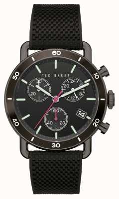 Ted Baker | Men's | Magarit | Black Silicone Strap | Black Dial | BKPMGF903