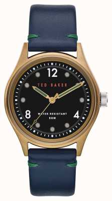 Ted Baker | Men's | Beleeni | Blue Leather Strap | Black Dial | BKPBLF907