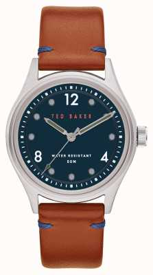 Ted Baker | Men's | Beleeni | Tan Leather Strap | Blue Dial | BKPBLF908