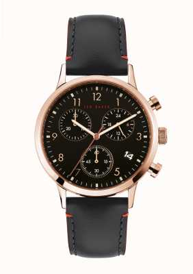 Ted Baker | Men's | Cosmop | Black Leather Strap | Black Dial | BKPCSF905