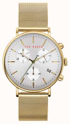 Ted Baker | Men's | Mimosaa | Gold Steel Mesh Bracelet | Silver Dial | BKPMMF902