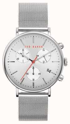 Ted Baker | Men's | Mimosaa | Silver Steel Mesh Bracelet | Silver Dial | BKPMMF901