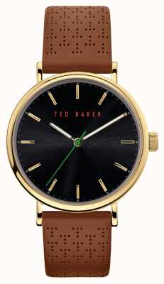 Ted Baker | Men's | Mimosaa | Brown Leather Strap | Black Dial | BKPMMF911